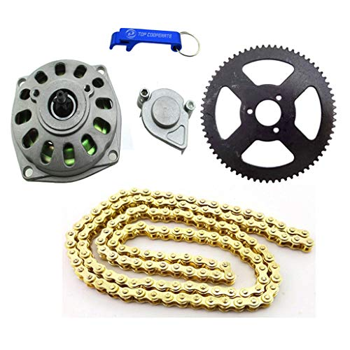 TC-Motor 6 Tooth Clutch Drum Gear Box 68 Tooth Rear Chain Sprocket 25H Chain (136 Links) For 2 Stroke 47cc 49cc Minimoto Pocket Bike 4 Wheeler Quad ATV