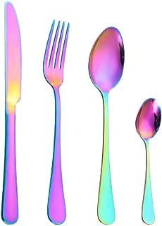 LUOWAN Stainless Steel Cutlery Set Creative Color Western Steak Cutlery Hotel Tableware