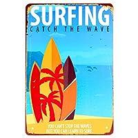 [ファン] Fun! ブリキ看板s サーフィンcw ポスター アートパネル 海 ボード マリン 雑貨