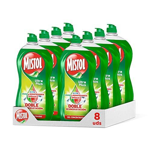 Mistol Ultra Plus - Lavavajillas Líquido Mano 950 ml (Pack 8)