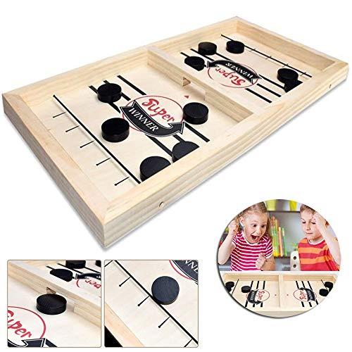 HJHY@ Schneller Slingpuck, Springendes Schachhockeyspiel, Interaktives Schachspiel für Eltern-Kind Brettspiele Spielzeug Party Home Interaktive Spiele SpielzeugS
