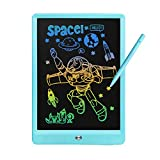 Derabika LCD Writing Tablet Drawing Board, 10 Inch Colorful Doodle Board Drawing Pad for Kids, Educational Toys for 3 4 5 6 7 Year Old Boys, Homeschool Learning Toys Gifts for Boys Age 2-8 (Blue)