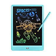 Derabika Toys for 3 4 5 2 Year Old Boys Girls, 10inch LCD Writing Tablet Color Drawing Board for Kids, Toddler Toys Birthday Christmas Gifts Educational Toys Homeschool Supplies for Age 2-6 (Blue)