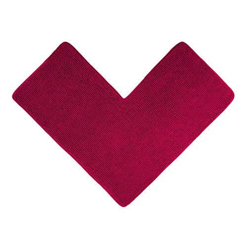 WohnDirect Tappetino da Doccia angolare Rosa - Ideale per cabine Doccia quadrate, può Essere Combinato in Un Set, Antiscivolo e Lavabile - Tappeti da Bagno & tappeti - 50 x 100 x 100 cm