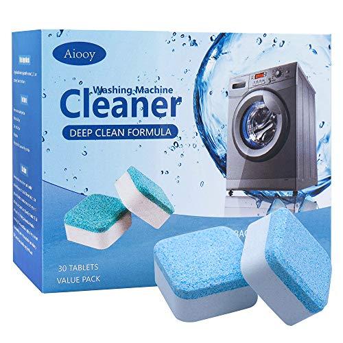 Detergente per Lavatrice Solido, Detergente per Compresse Effervescente, Detergente per Lavatrice, Tripla Decontaminazione, per Lavatrici a Carico Frontale e Dall'alto, 30 PZ
