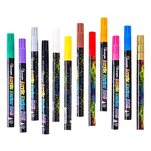 fine_fine 12 Gel Color Pens, Glitter Pens Art Markers Fine Tip Pen Kit for Kid Coloring Books Drawing Multifunction Writing...