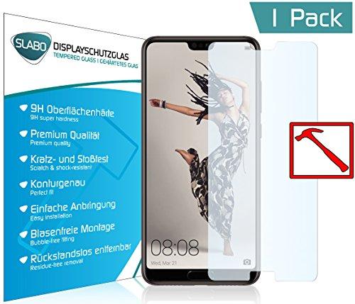 Slabo Lámina de Vidrio Premium Huawei P20 Pro Lámina Protectora Protector de Pantalla Templado (Protector de Pantalla reducido, a Causa de la Pantalla Curvada) Tempered Glass Claro - dureza 9H