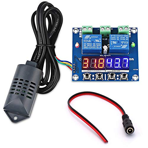 Youmile XH-M452 Temperatur Thermostat Luftfeuchtigkeit Thermometer Hygrometer Regler Modul DC 12V LED Digitalanzeige Dual Outputs + Probe + Case