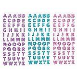 Letra Brillo Pegatinas PegatinasDiamantes De Imitación Pegatinas de Letras en Inglés Pegatinas De Bricolaje Pegatinas A La Z para Tarjetas De Felicitación Hojas Adhesivos 3 Piezas (rosa Púrpura Azul)