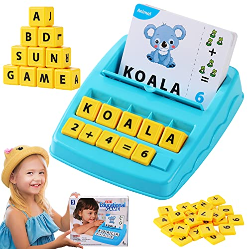 DDAI Matching Letter Game Educational Games for Kids Age 3-8 Learning Toys Flash Card Spelling Toy for Homeschool…