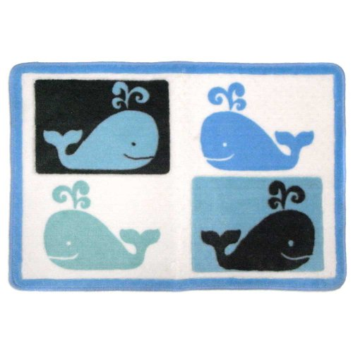 Allure Home Creations Whale Watch 100-Percent Cotton 3-Piece Towel Set