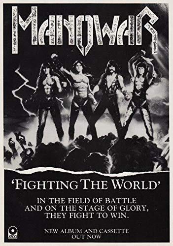Generic Manowar Fighting The World Fotodruck Poster Kings of Metall 001 (A5-A4-A3) - A5