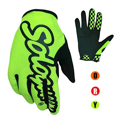 KnBoB Mountainbike Handschuhe Gel Motocross Handschuhe M/änner Sommer Handschuhe Atmungsaktiv