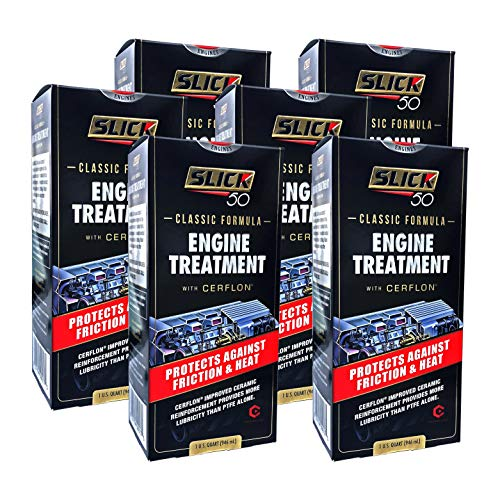 Slick 50 SL-750017-06 Classic Engine Treatment with Cerflon PTFE, 32 fl. oz, 6 Pack