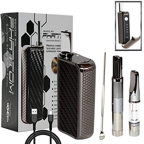 HoneyStick Vape Pen Battery Kit 2 in 1 Oil and Wax Electronic Vaporizer Phantom Signature USB Rechargeable for 510 Thread Cartridge Variable Voltage 1000 mAh Vape for CBD & THC Oil No Nicotine