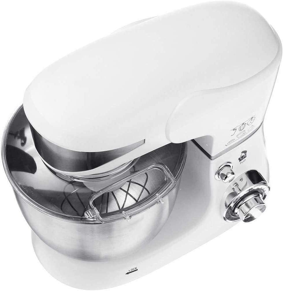 Electric Stand Mixer Blender Handheld Whisk 6 versnellingen met groot 5.5 Liter Bowl for Kitchen Baking Cake Mini Egg Cream Eten Beater (Color : Black) White