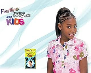 YAKY STRAIGHT 10'' - Shake N Go FreeTress Drawstring Ponytail for KIDS #1 Jet Black by Freetress