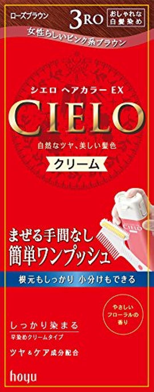 宝石レールパッケージシエロ ヘアカラーEX クリーム3RO (ローズブラウン)×27点セット (4987205284687)