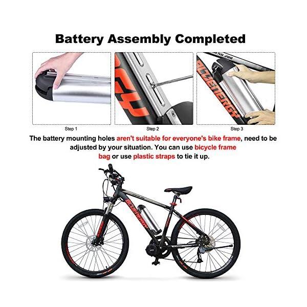 51Dz68w5tKL. SS600  - Junstar Ebike Batterie 36V 10Ah/17.4Ah Lithium Li-Ion Akku Kompatibel mit Bafang BBS01B BBS02B BBSHD Mittelmotor