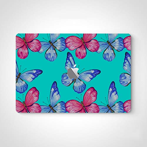 Cute Decal Stickers for Laptop Blooming Flower Butterfly Beauty Skin Vinyl Wrap for MacBook Air 13' Pro 13'/15'/16' 2008-2020 Version Laptop Keyboard Decal Sticker