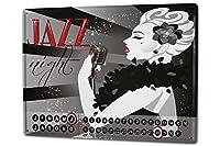 カレンダー Perpetual Calendar Kitchen Jazz microphone Tin Metal Magnetic