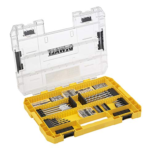 DEWALT DT70763-QZ Toughcase 85 Piece Set Concrete and Metal Drill Bits and Screw Bits for Drill and Screwdriver