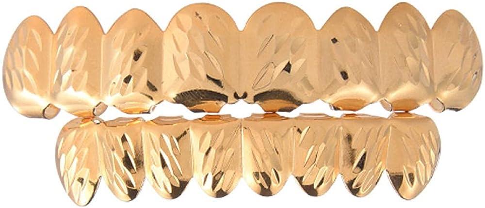 Hip Hop Teeth hiphop accessories, braces, double-color, 8 teeth, gold braces, jewelry