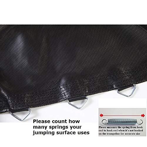 JumpKing 9' x 14' Oval Trampoline with 74 V-Rings for 8.5' Springs, Black (BEDOV91474-8.5)