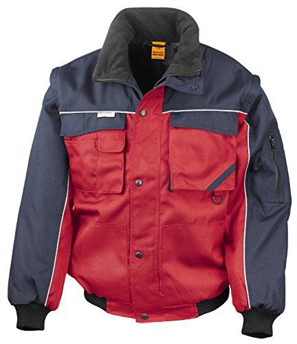 Result Work-Guard RT71 Workguard Heavy Duty Jacke Arbeitsjacke winddicht wasserabweisend, Farbe:Red-Navy;Größen:S S,Red-Navy