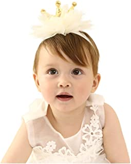 White Lace Flower Design Headpiece for Lovely Baby Girl Elastic Headband Hair Accessories for Newborn Toddlers