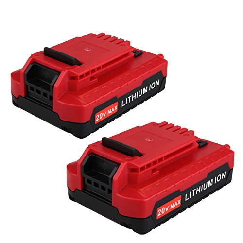 Biswaye 2 Pack 2.0AH 20V MAX Lithium Ion Battery Replacement for Porter Cable 20V Cordless Power Tools Battery PCC685L PCC680L PCC682L PCC685LP