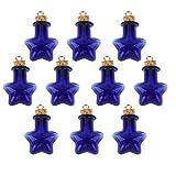 yeah67886Creative blau Star Muster, Mini-Einmachgläser zum Aufhängen Glas Flasche für Crafts