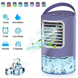 Personal Air Cooler, Portable Air Conditioner Fan, Mini Space Evaporative Cooler with Timing