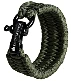 The Friendly Swede Trilobite Extra Beefy 550 lb Paracord Survival Bracelet with Stainless Steel...