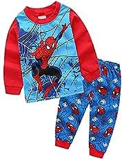 ディズニー スパイダーマン パジャマ キッズ 子供服 ジュニア 上下セット 長袖&長ズポン 90-130cm 秋冬 薄手綿100%ームウェア 可愛い柔らかい 快適 肌触りがいい