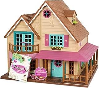 Li'l Woodzeez Animal Figurine Playset and Accessories - Honeysuckle Hillside Cottage - 25 Pieces