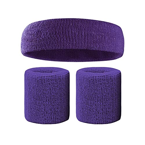 UKKO Diadema Deportiva Sweatband Set Sports 1Pc Headband 2Pc Pulsera Moisture Wicking Toalla Absorbente З Pulsera De Muñeca-C