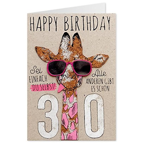 Sheepworld, Gruss & Co - 90435 - Klappkarte, Kork, Nr. 17, Geburtstag, 30, Happy Birthday
