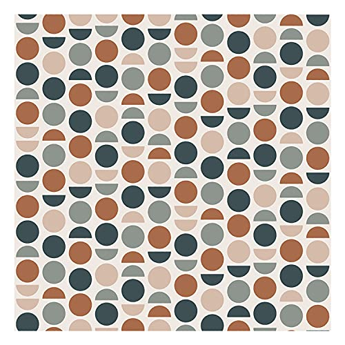 DON LETRA Vinilo Adhesivo para Muebles y Pared, 45 x 200 cm, Lunares, Multicolor, Fundo Beige, VNL-017