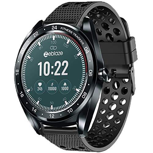 LvBu Armband Kompatibel Für Zeblaze NEO, Sport Silikon Classic Ersatz Uhrenarmband Für Zeblaze NEO Smartwatch (Schwarz)