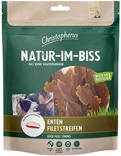 Christopherus Kausticks für Hunde, Entenfiletstreifen, Warmluftgetrocknet, Natur-Im-Biss, 70 g