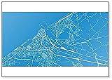 Kühlschrankmagnet, Motiv Stadtkarte von Ostend, Belgien