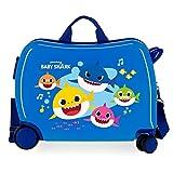 Baby Shark Ocean Sharks Kinder-Koffer Blau 50x39x20 cms Hartschalen ABS Kombinationsschloss 34L 2,1Kgs 4 Räder Handgepäck