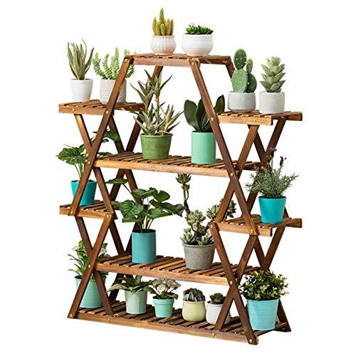 Scaffale per piante Scaffale per fiori Scaffale per fiori Scaffale per piante in legno Portavaso per fiori Organizer per piante Scala per balcone Soggiorno Giardino esterno