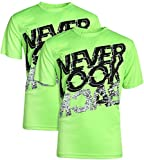 Energy Zone Boys Quick Dry Breathable Performance Active Graphic T-Shirts (2-Pack) (Green Never Look Back, Small - 6/7)'