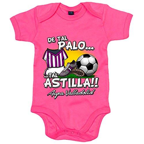Body bebé De tal palo tal astilla Valladolid fútbol - Rosa, 6-12 meses