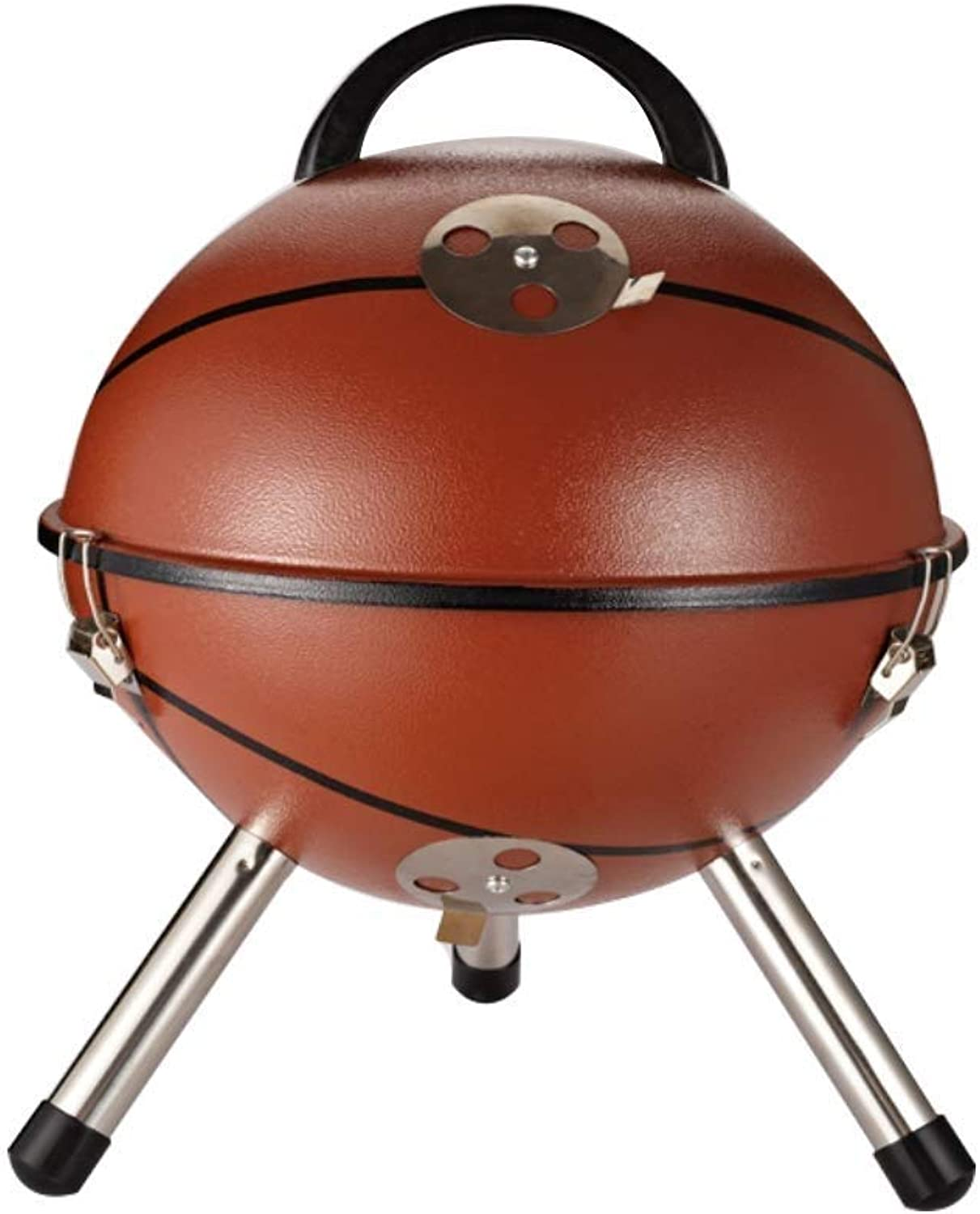 BBQ Supplies Barbecue Creative Small Outdoor Grills Spherical Charcoal 3-5 People Thickened Portable Multi-Tools Family Friends Wild Camping Picnic Garden Party Fishing Garden 3 Styles Optional
