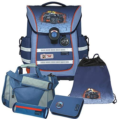 Ranger - Monstertruck - McNeill Ergo Light Pure mit Blinklicht Schulranzen-Set 5tlg. mit Sporttasche