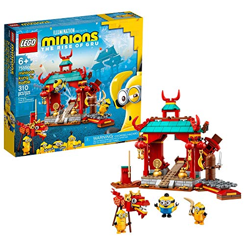LEGO Minions: Minions Kung Fu Battle (75550) Toy Temple Building Kit for Kids, a Great Present for Kids Who Love Minions Toys and Kevin and Stuart Minion Toy Figures, New 2021 (310 Pieces)