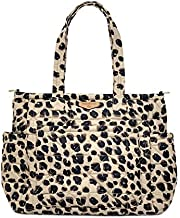 TWELVElittle Carry Love Diaper Bag Tote - Light-Weight Diaper Bag, Quilted Tote Baby Bag, Diaper Bag Tote with Changing Pad, Machine Washable - Leopard 2.0